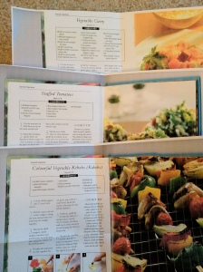 Recipes for vegetable kebabs, stuffed tomatoes and vegetable curry