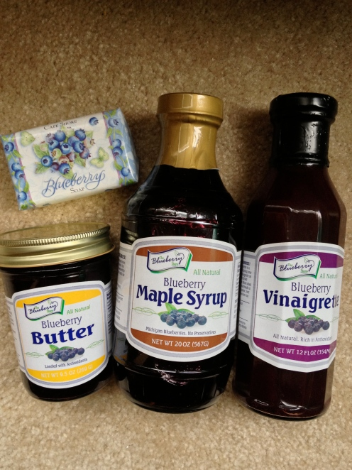 Soap, jam, vinaigrette and syrup
